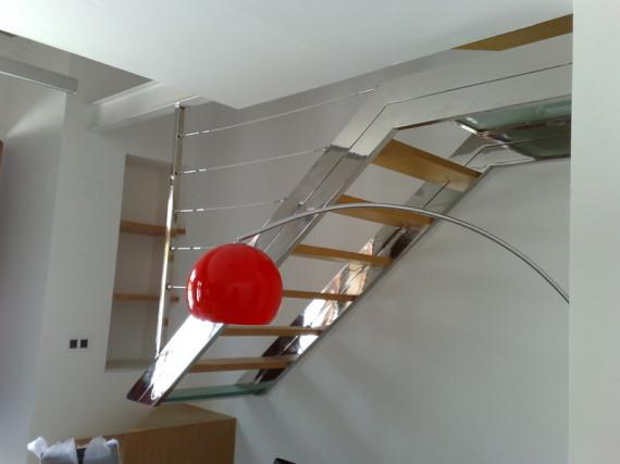 Escaleras y barandas - Escaleras de cristal y madera ...