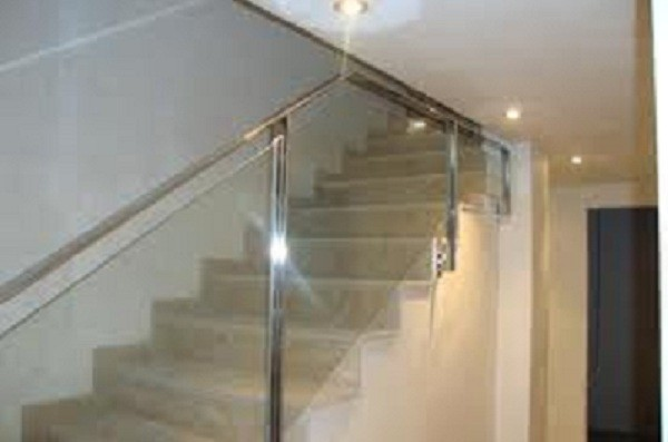 Escaleras en acero cristal - Baranda de cristal ...
